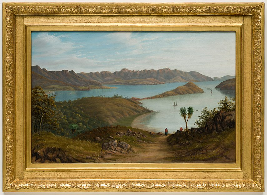 painting of Akaroa Harbour