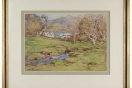 Cottages, Little River, by M.O. Stoddart